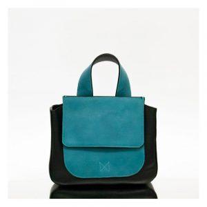 mano schwarz/türkis - Handtasche